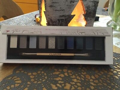 Auge Farbe Pinsel 10 (Clarins The Essentials. Lidschatten Palette 10 farben + Pinsel Limited Edition !)
