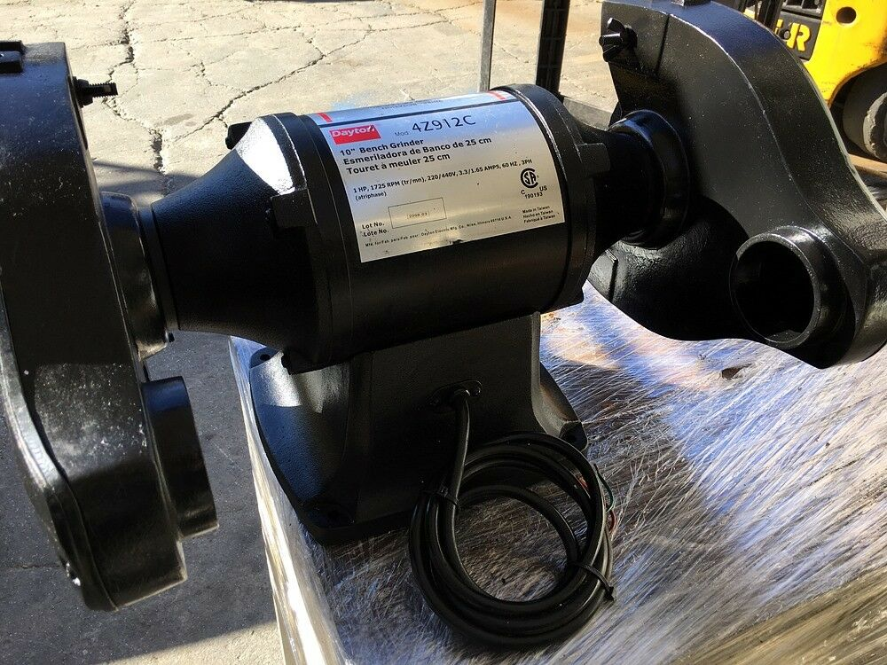 Incredible Details About Nice Dayton 10 4Z912C Bench Top Buffer Grinder 1 Hp 1725 Rpm 220 440 3 Phase Andrewgaddart Wooden Chair Designs For Living Room Andrewgaddartcom