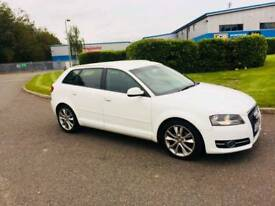 Audi A3 sportback TDI white 2011 5 door NOT leon golf gtd 320d 120d 118d polo ibiza astra focus