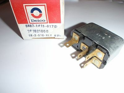 Nos gm delco air conditioning blower relay 1977 1978 1979 for Air handler blower motor relay