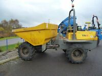 Benford 6 ton dumper with roll bar, beacon & lights