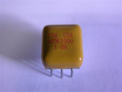 2 ITW CS4 4uF 100V Capstick Metallized Polyester Replacements for Ceramic Caps
