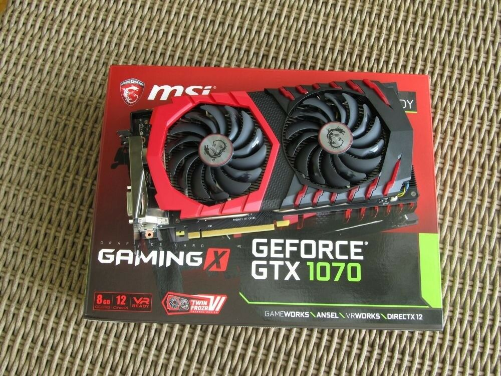 MSI GeForce GTX 1070 GAMING X 8GB GDDR5 (256 bit) HDMI, DVI-D, 3x DP, BOX  graphics card   in Bedford, Bedfordshire   Gumtree