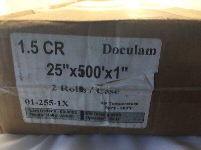 Doculam Hot Laminating Film 25 X 500 On 1 Core 1.5 Mil American Total 2 Rolls