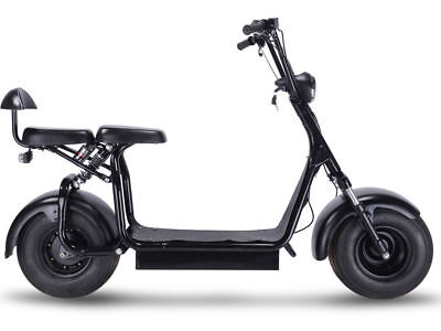 Electric Scooter Knockout 1000W 48V 2-Seater - CEC Certified for California Sale