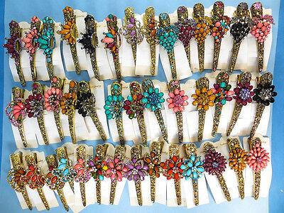 US SELLER-wholesale 5 hair clip rhinestone vintage alligator clip crystal