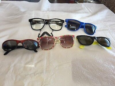 Lot Of 5 PAIR OF  Kids Sunglasses  MISC. BRANDS   AREA (Kids Sunglasses Brands)
