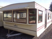 Static caravan mobile home 35 x 12 ft 2 bedrooms, electric heating, in good condition