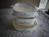Set of 3 Different Sized Corning Ware Dishes