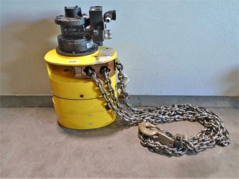 Yale 1/2 Ton Air Chain Hoist KALC5016, Brass Budgit Push Trolleys 905462 & Hose