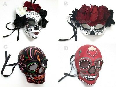Day of the dead Party Couples D? de Muertos Masquerade Ball Mask Wear Wall Deco (Day Of The Dead Masks)