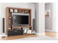 *FAST & FREE UK DELIVERY* Birlea TV Stand and Media Storage Cabinet in Black Gloss and Walnut