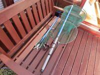 Shakespeare Telescopic Fishing Rod, Landing Net + Keep Net