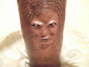 WOW !  VERY RARE  UNIQUE SCULPTED AND CARVED vase Cornwall Ontario image 1