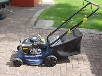 Self propelled petrol lawn mower