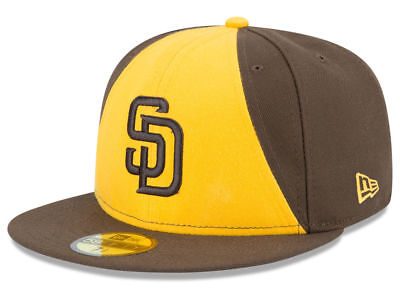 New Era San Diego Padres Alt 2 59Fifty Fitted Hat  Brown Gold  Mlb Cap