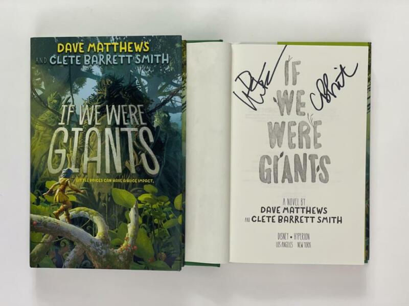 """DAVE MATTHEWS SIGNED """"IF WE WERE GIANTS"""" BOOK - UNDER THE TABLE AND DREAMING"""