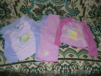 3x Pyjamas and 3 Pyjama Pants for Girl 3-4 years: Disney Princesses, Fifi, Baby Gap. Good condition.