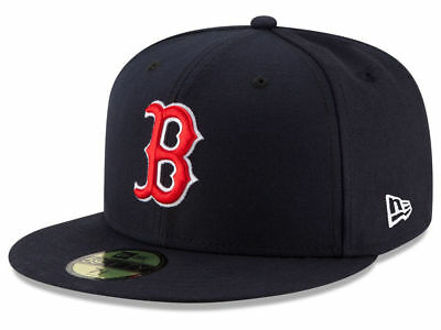 New Era Boston Red Sox GAME 59Fifty Fitted Hat (Navy) MLB Cap Sox Game Hat