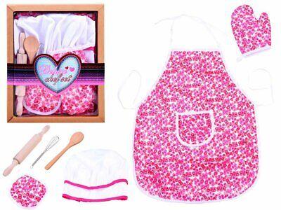 Schürze Set für Kinder Koch Kochschürze Kinder Kochkostüm  kleine Blumen - Koch Kostüm Kinder