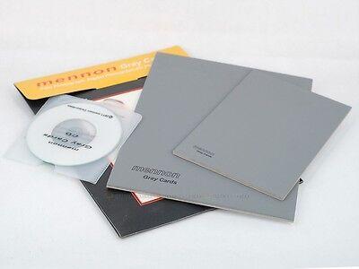"Mennon 18% Gray card set 8x6"" 6x4"" 2 pcs for White balance exposure - Другие, Видео Фото Аксессуары, Камеры и Фото"