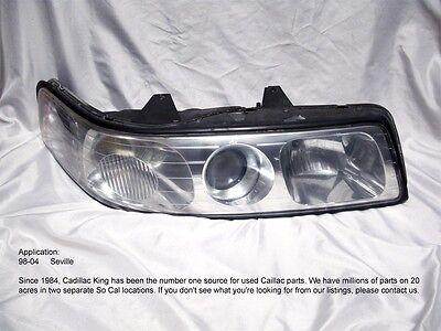 2000 2001  01 CADILLAC SEVILLE RIGHT HEADLIGHT HEADLAMP USED (NON HID) T520