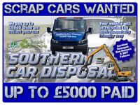 Scrap Cars & Vans Wanted Brighton - Accident Damaged, MOT Failures & Non-Runners Collected