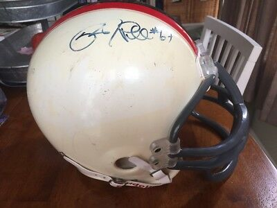 Riddell Little Pro Football Helmet Large Former Wooton Patriots Autographed Autographed Patriots Pro Helmet