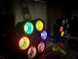"""Disco Lights, size = 14"""" sound sensitive, used once, excellent condition"""