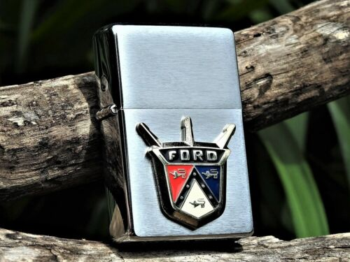 Zippo Lighter - Ford Motor Company - Ford Vintage Logo - Crest - Jubilee - Rare