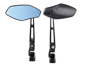 UNIVERSAL BLACK ALUMINUM MOTORCYCLE SPORTS BIKE CUSTOM RACING REARVIEW MIRRORS