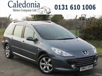 PEUGEOT 307 SW S 1.6 5DR ESTATE PANORAMIC GLASS ROOF (grey) 2007
