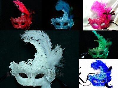 Mardi Gras Masquerade Lace mask Sweet 16 birthday school Halloween Costume Party