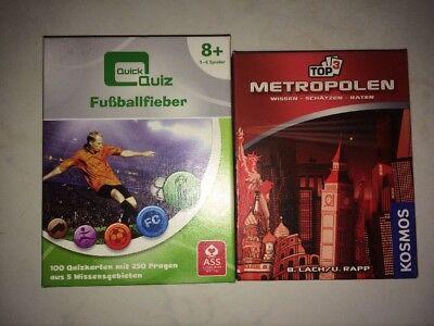 2x Quizspiele für Kinder/Erwachsene: Quick Quiz-Fußballfieber + Top3 Metropolen
