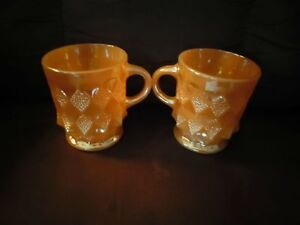 Pair of Fire King Anchor Hocking Coffee Mugs