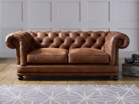 CARA Faux Leather Sofa - Chesterfield style. 4 Seater Sofa & 2 Armchair's!