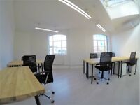 Charterhouse St offices Pricing is £350 per desk per month in private room