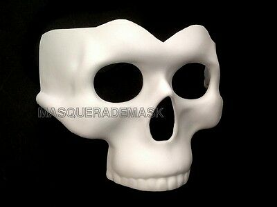 Blank White Halloween Skull Mask Masquerade Party Day of the Dead DIY Mask