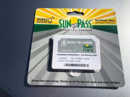 SunPass Transponder  Mini Sticker Pre-Paid Toll Program For Florida