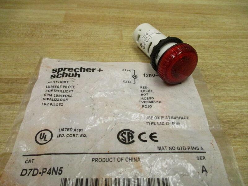 Sprecher + Schuh D7D-P4N5 Pilot Light D7DP4N5