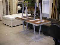 Grey office / canteen table 75x75 cm