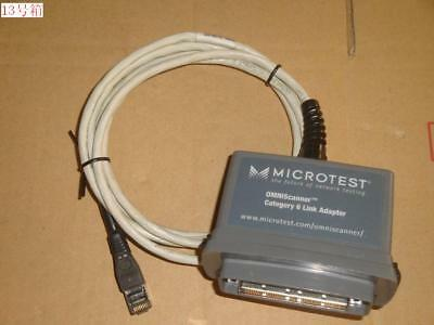 Used Fluke Microtest Omniscanner Category Cat 6 Link Adapter