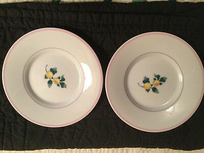 Set of 2 Fitz & Floyd Country Bouquet Salad Appetizer Dessert Plate