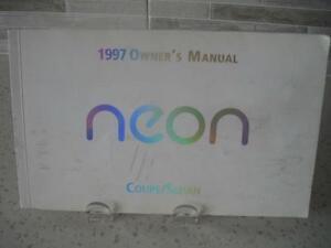 "1997 OWNER'S ""NEON"" COUPE/SEDAN MANUAL~203 PAGES~SMOKE FREE! Edmonton Edmonton Area image 1"