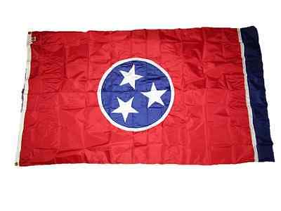 5x8 Embroidered Sewn State of Tennessee 300D Nylon Flag 5'x8' Grommets