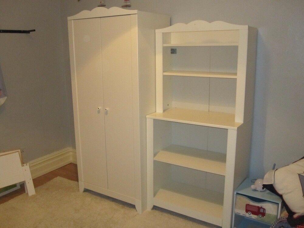 Nursery Furniture Wardrobe Shelving Unit Cot Bed Ikea Helsvik