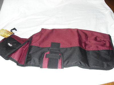 NEW TOUGH 1 DOG BLANKET SIZE EX-LARGE BURGANDY AND BLACK COLOR VERY NICE