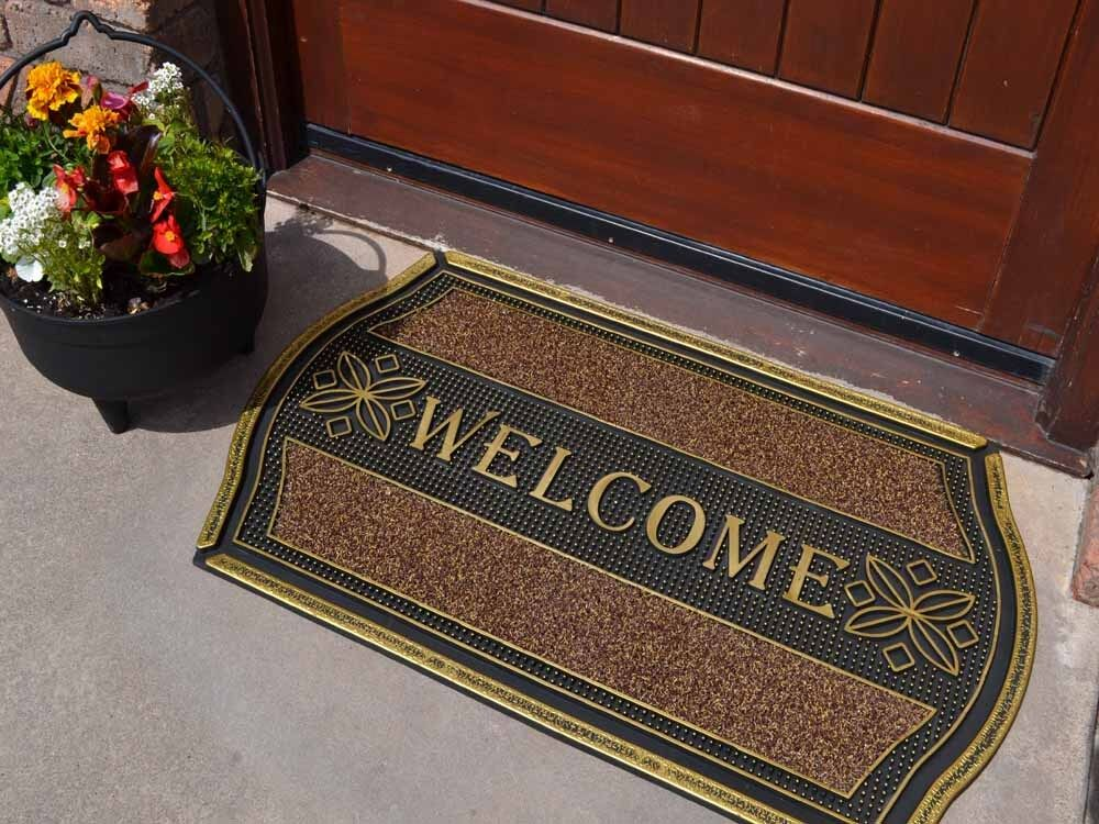 strong indoor outdoor welcome entrance front door mat. Black Bedroom Furniture Sets. Home Design Ideas