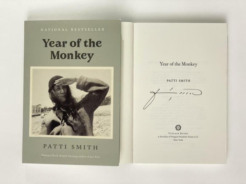 """PATTI SMITH SIGNED AUTOGRAPH """"YEAR OF THE MONKEY"""" BOOK - PUNK ROCK ICON! RARE!"""