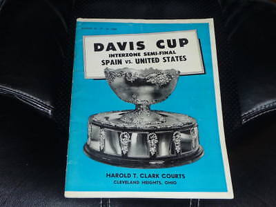 1968 Davis Cup Semi Finals Tennis Program Usa Vs Spain Arthur Ashe Stan Smith Ex